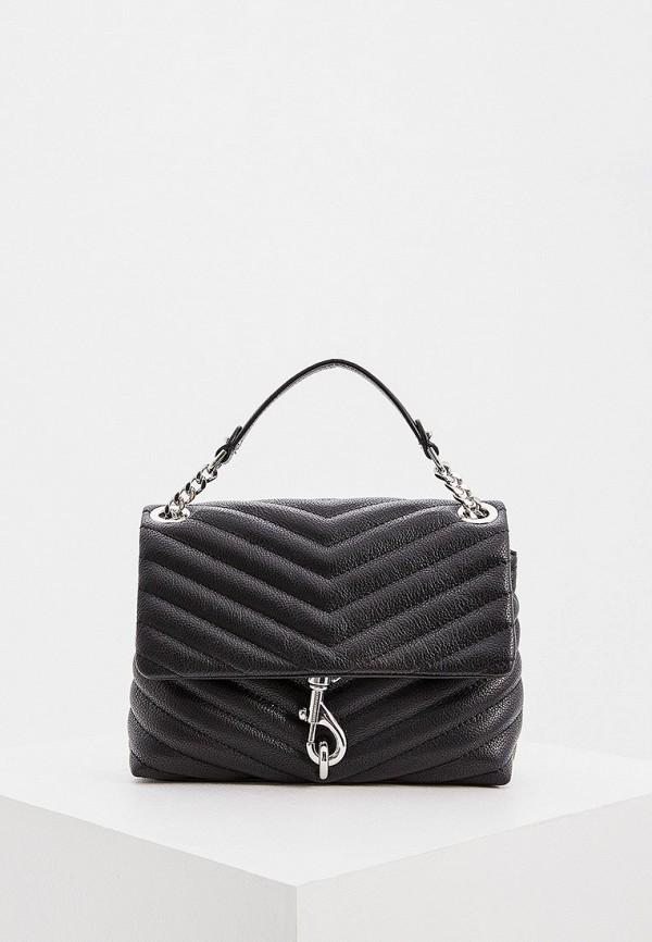 женская сумка через плечо rebecca minkoff, черная