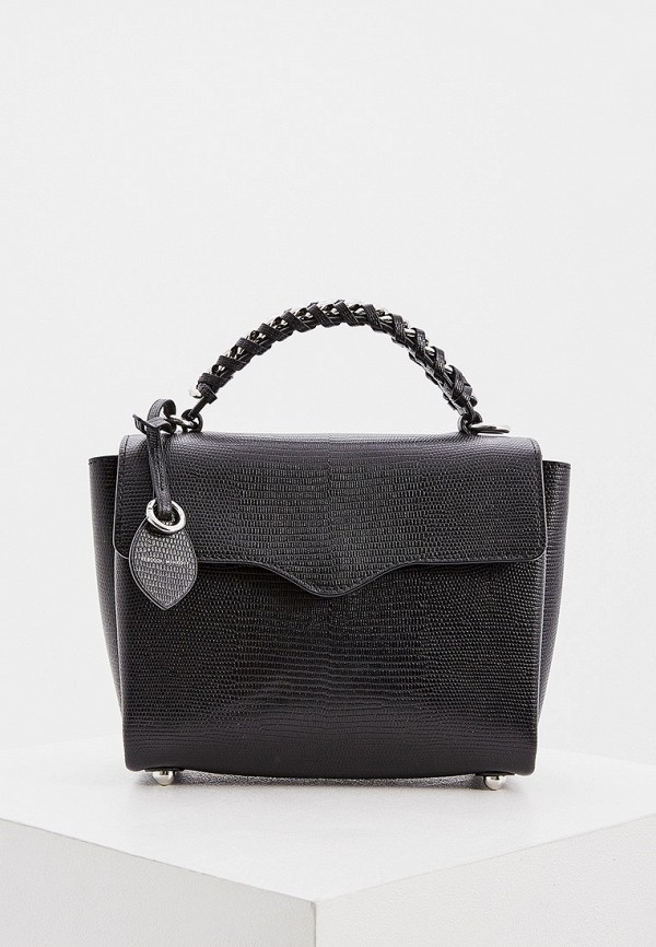 женская сумка с ручками rebecca minkoff, черная