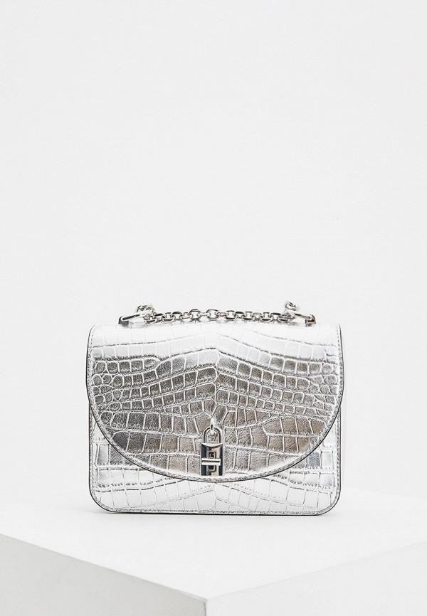 женская сумка через плечо rebecca minkoff, серебряная