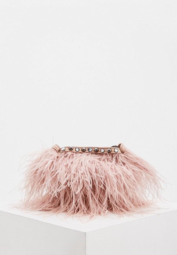 женская сумка через плечо rebecca minkoff, розовая