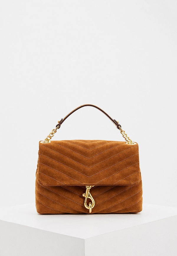 женская сумка через плечо rebecca minkoff, коричневая