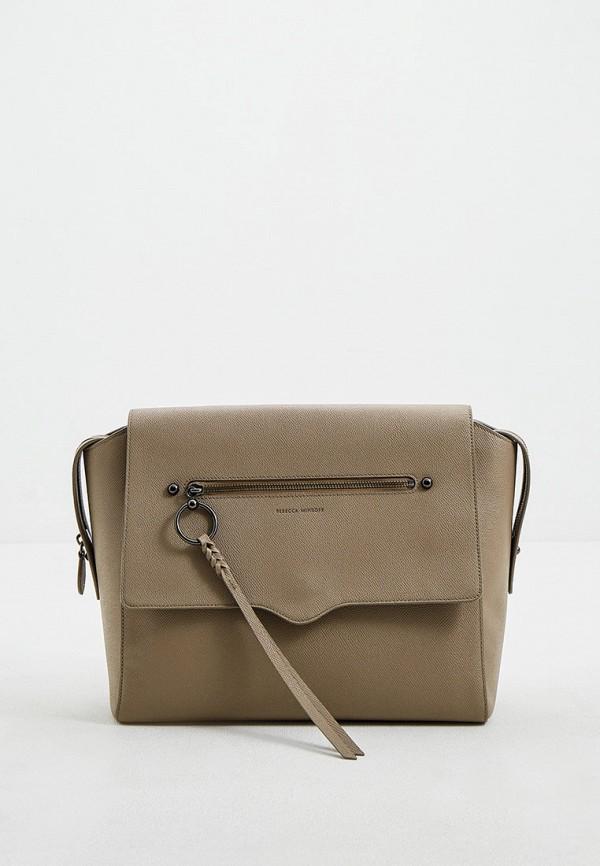 женская сумка rebecca minkoff, серая