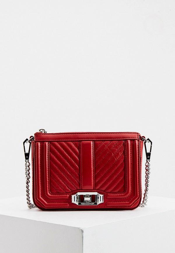 женская сумка rebecca minkoff, красная