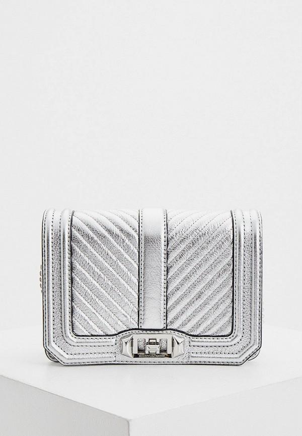женская сумка rebecca minkoff, серебряная
