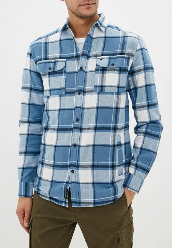 мужская рубашка с длинным рукавом regatta, голубая