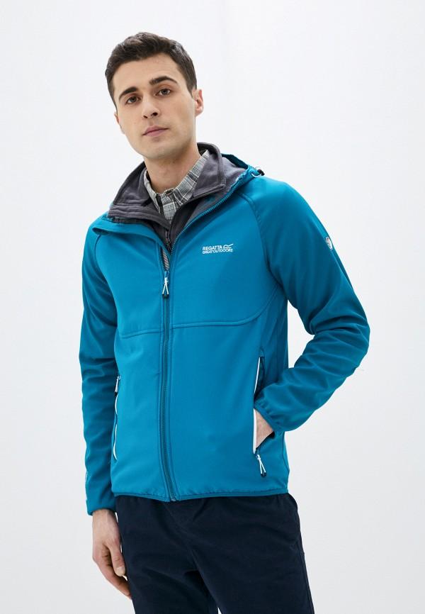 мужская куртка regatta, бирюзовая