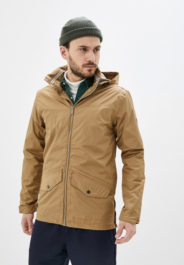 мужская куртка regatta, коричневая