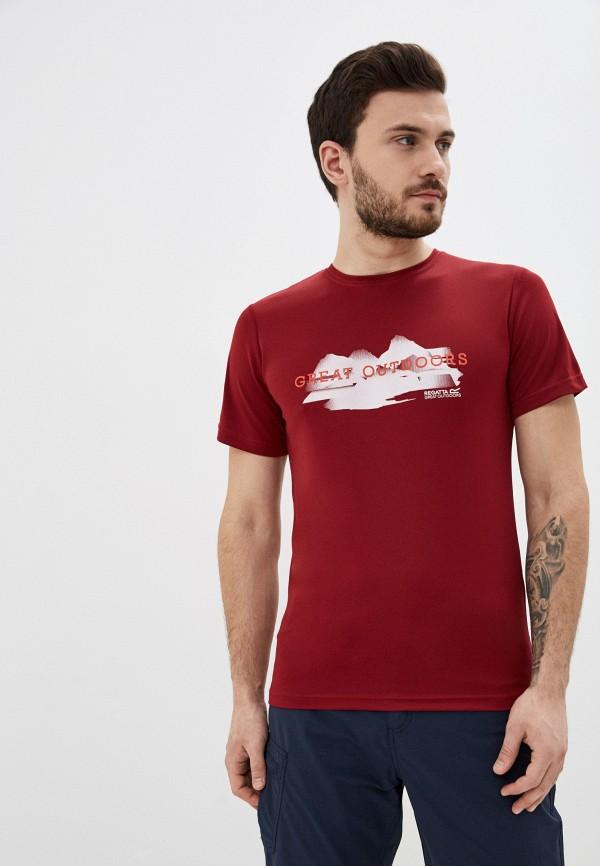 мужская спортивные футболка regatta, бордовая