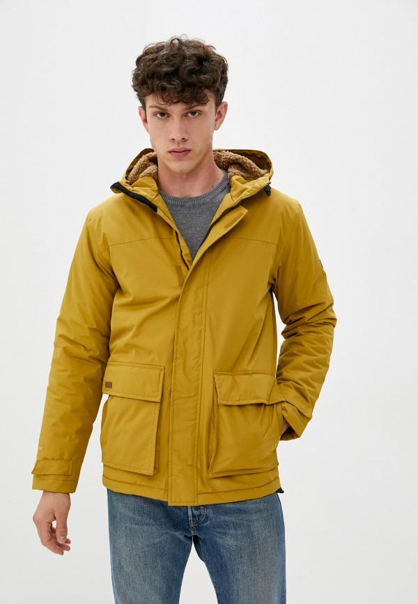 мужская куртка regatta, желтая