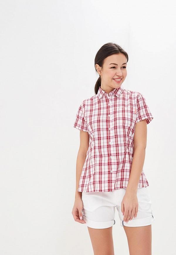 женская рубашка с коротким рукавом regatta, розовая