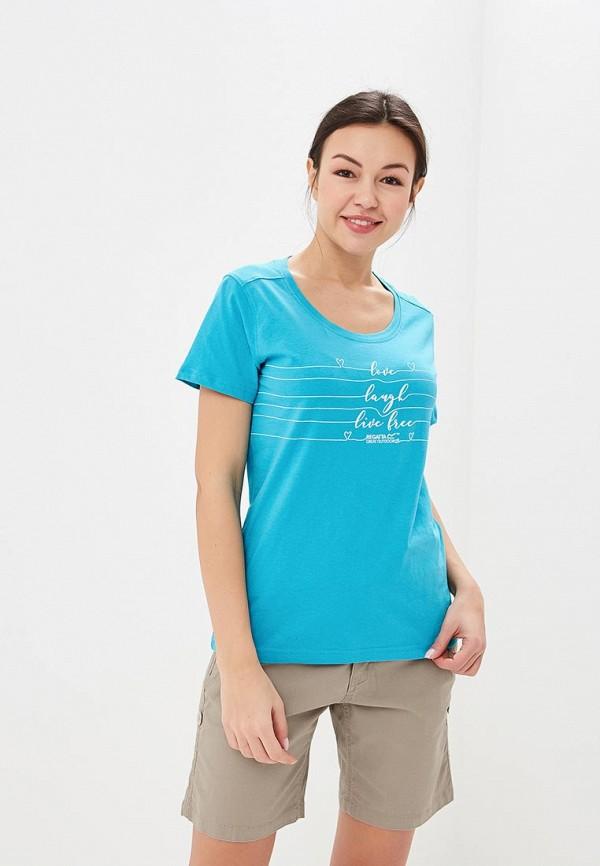 женская спортивные футболка regatta, бирюзовая