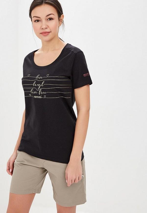 женская спортивные футболка regatta, черная