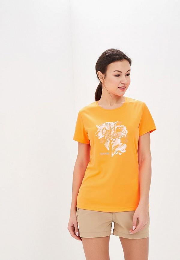 женская спортивные футболка regatta, оранжевая