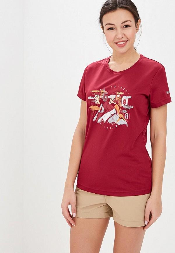 женская спортивные футболка regatta, бордовая