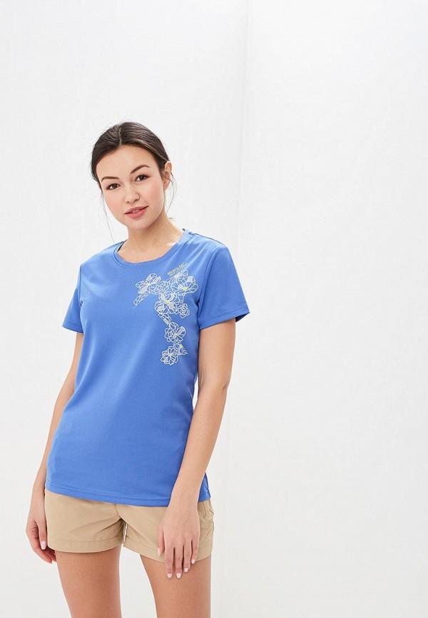 женская спортивные футболка regatta, синяя