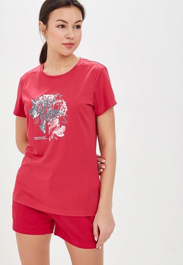 женская спортивные футболка regatta, розовая