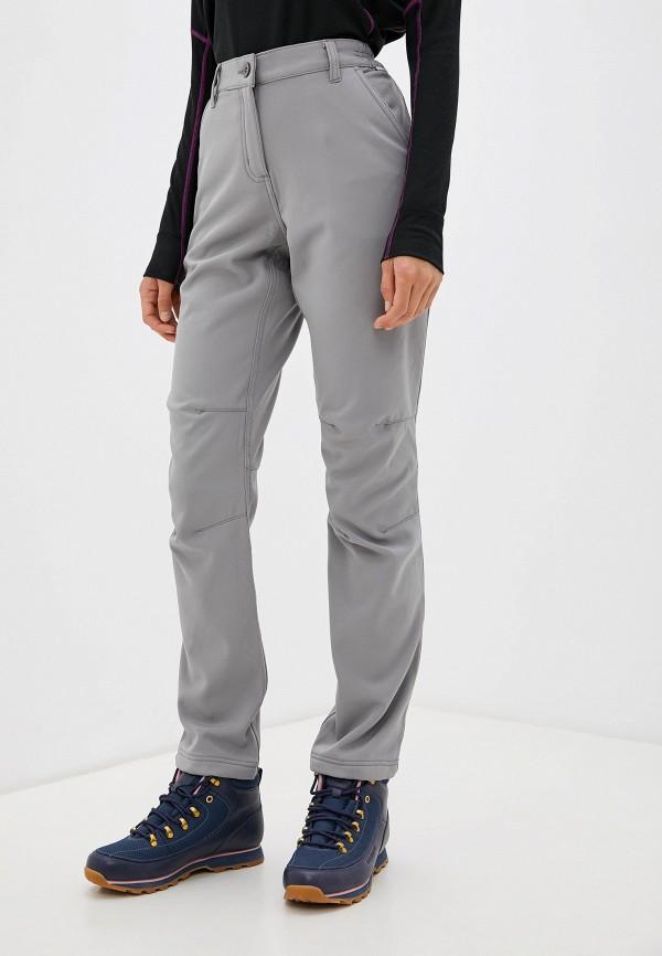 женские утепленные брюки regatta, серые