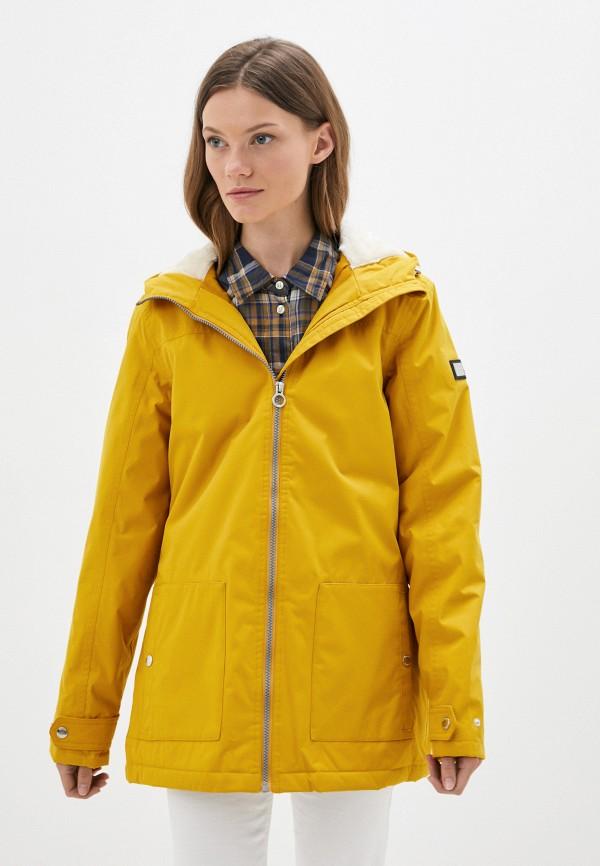 женская куртка regatta, желтая