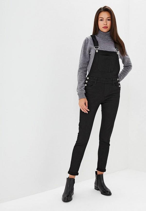 Купить Комбинезон джинсовый Regular, RE042EWCNGN4, черный, Осень-зима 2018/2019