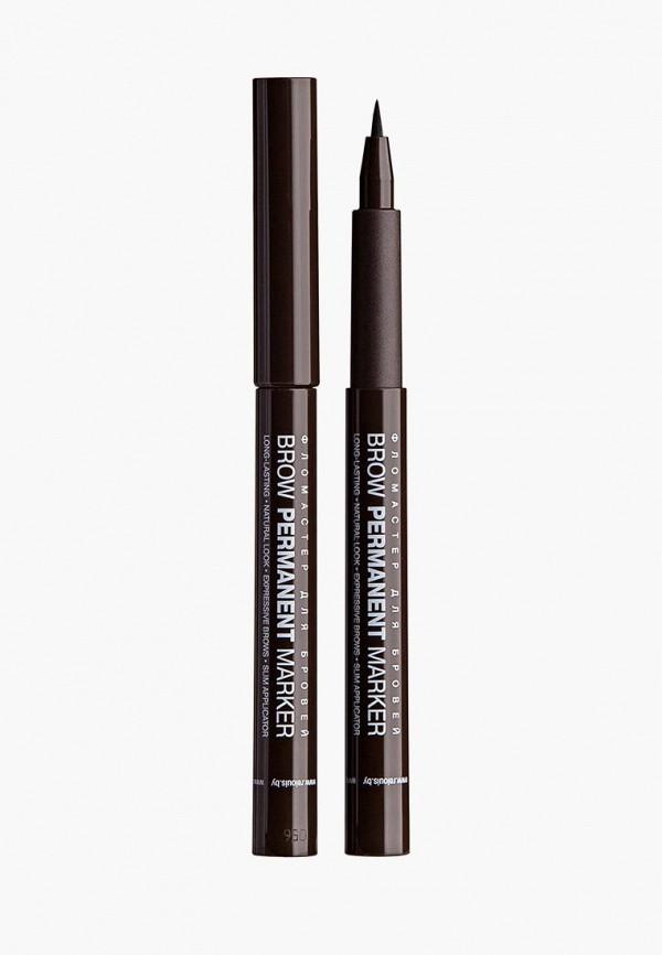 карандаш для бровей relouis, коричневый
