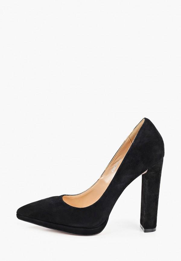 женские туфли с закрытым носом rene santi, черные