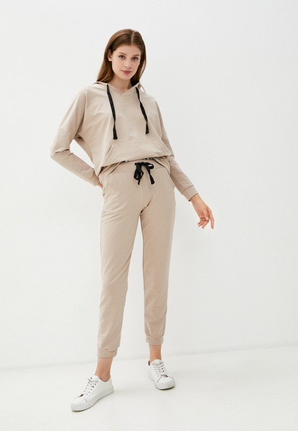 женский спортивный костюм rene santi, бежевый