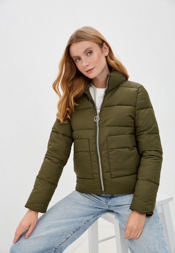 женская утепленные куртка rene santi, зеленая