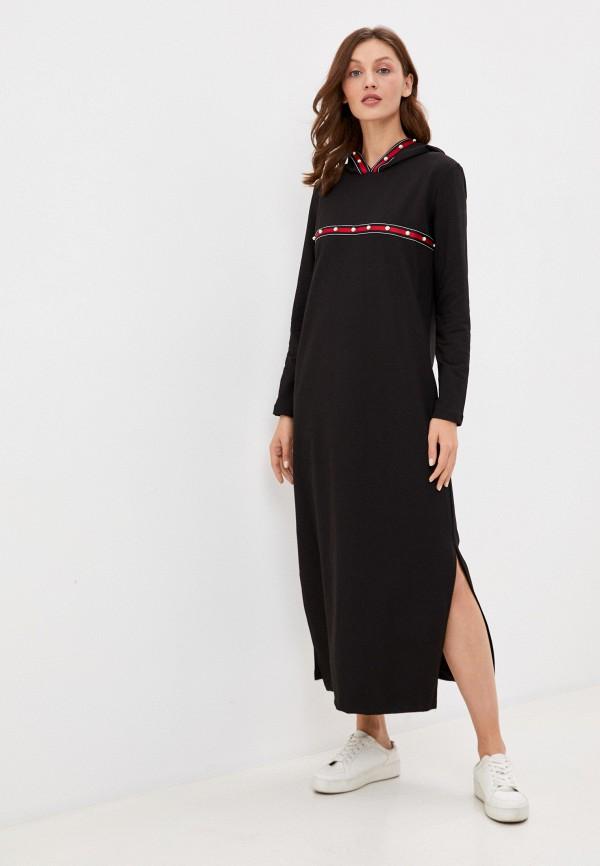 женское платье-толстовки rene santi, черное