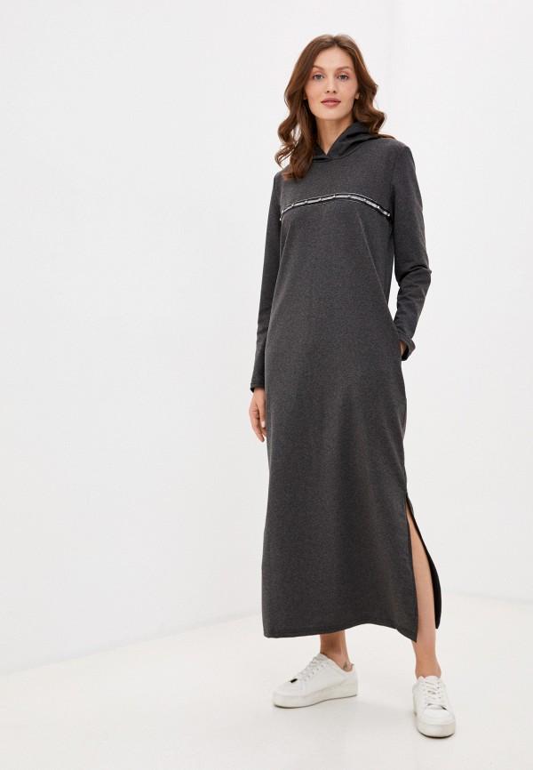 женское платье-толстовки rene santi, серое