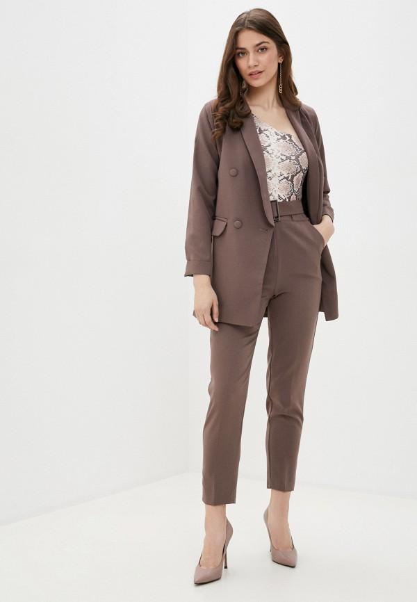 женский костюм rene santi, коричневый