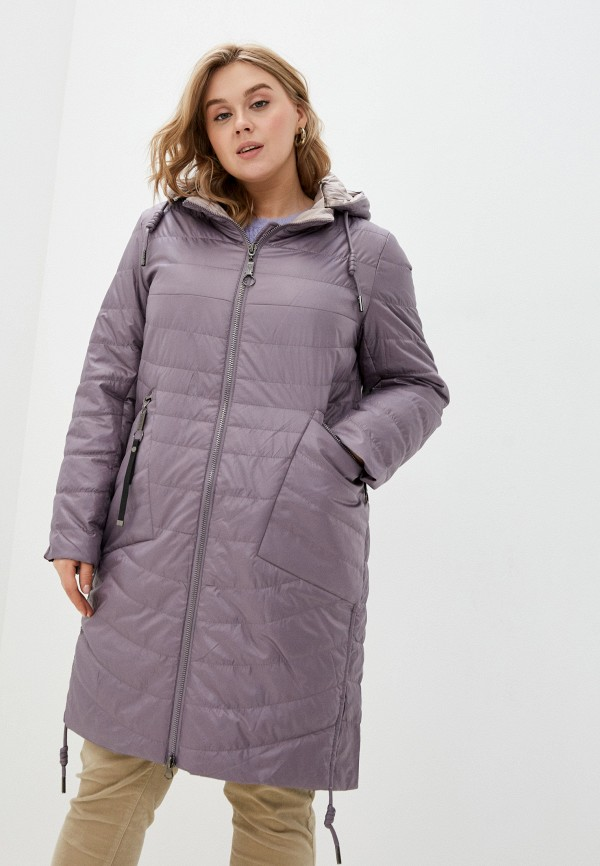 женская куртка rene santi, фиолетовая