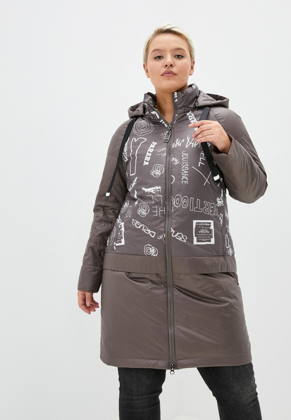 женская куртка rene santi, коричневая
