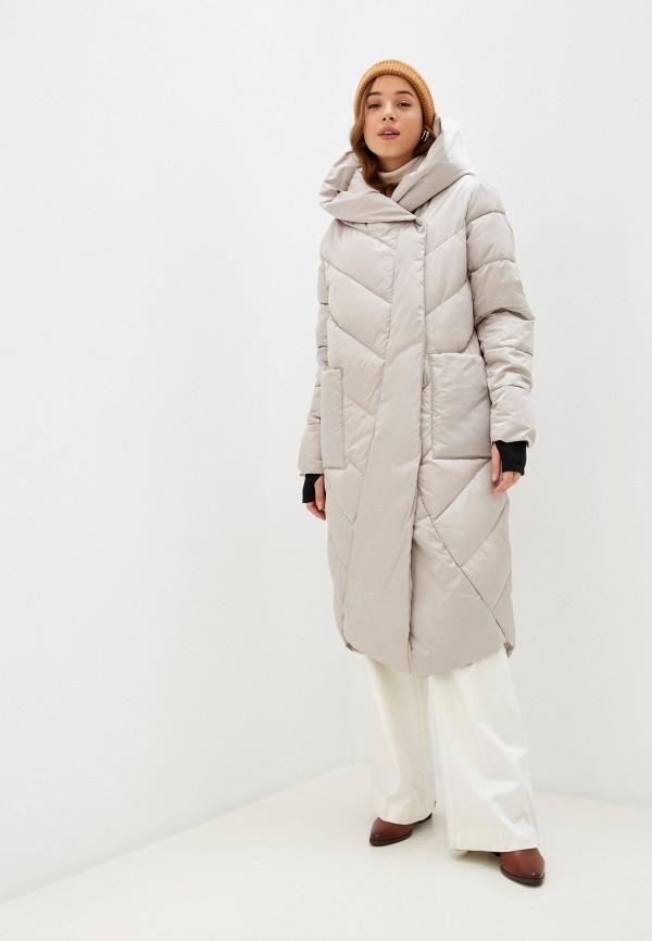 женская утепленные куртка rene santi, бежевая