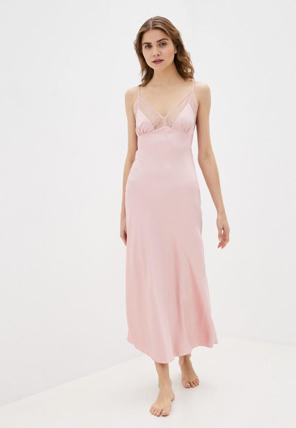 женские сорочка ночная rene santi, розовые