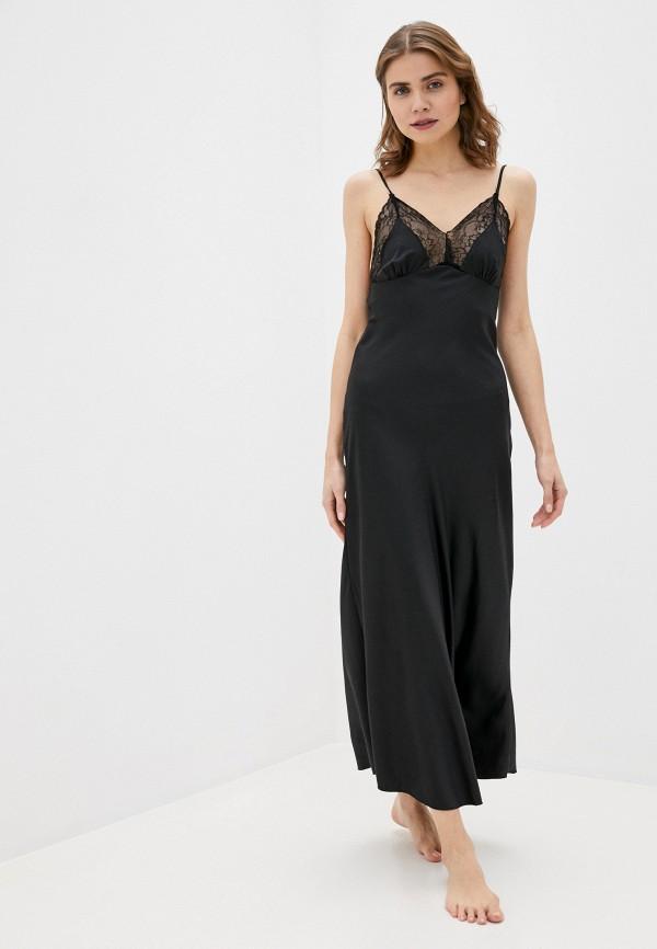 женские сорочка ночная rene santi, черные