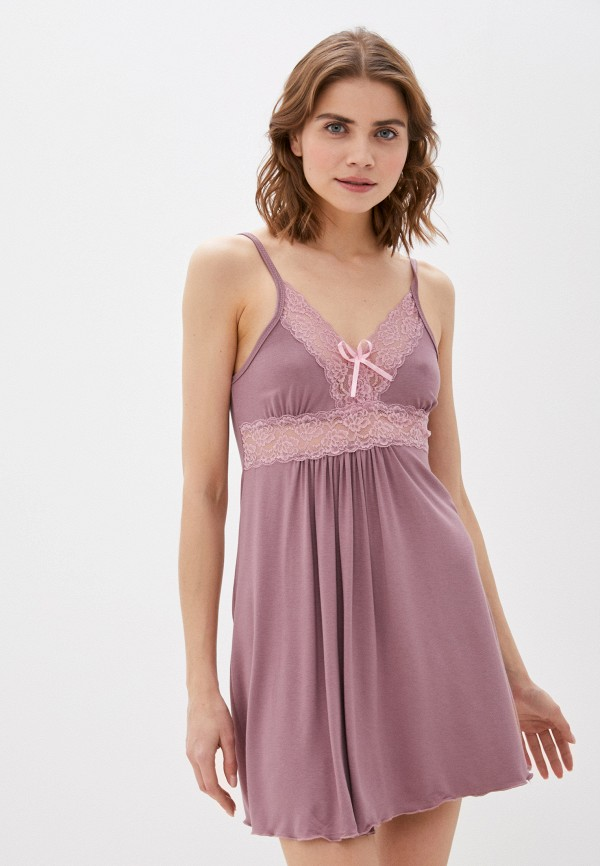 женские сорочка ночная rene santi, фиолетовые