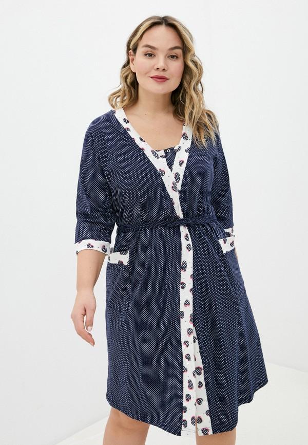 женский халат rene santi, разноцветный