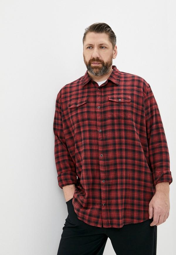 мужская рубашка с длинным рукавом replika jeans, красная