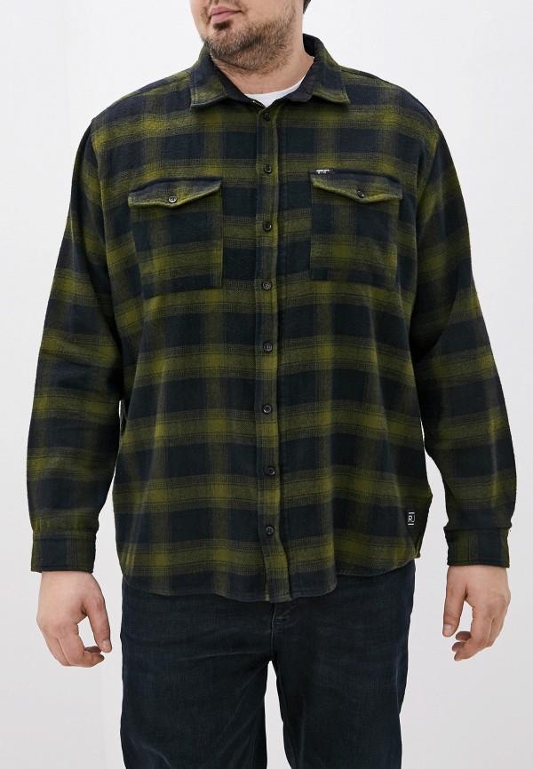 мужская рубашка с длинным рукавом replika jeans, зеленая