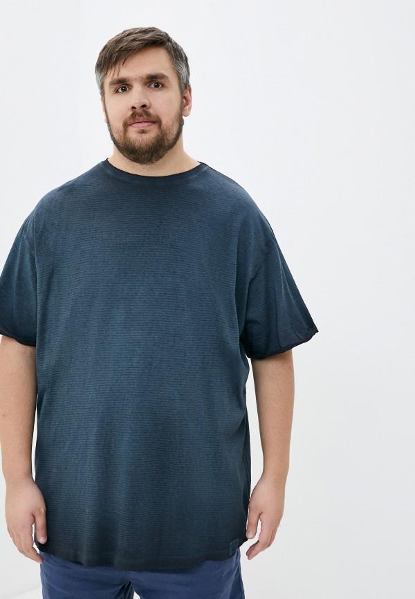 мужская футболка replika jeans, серая