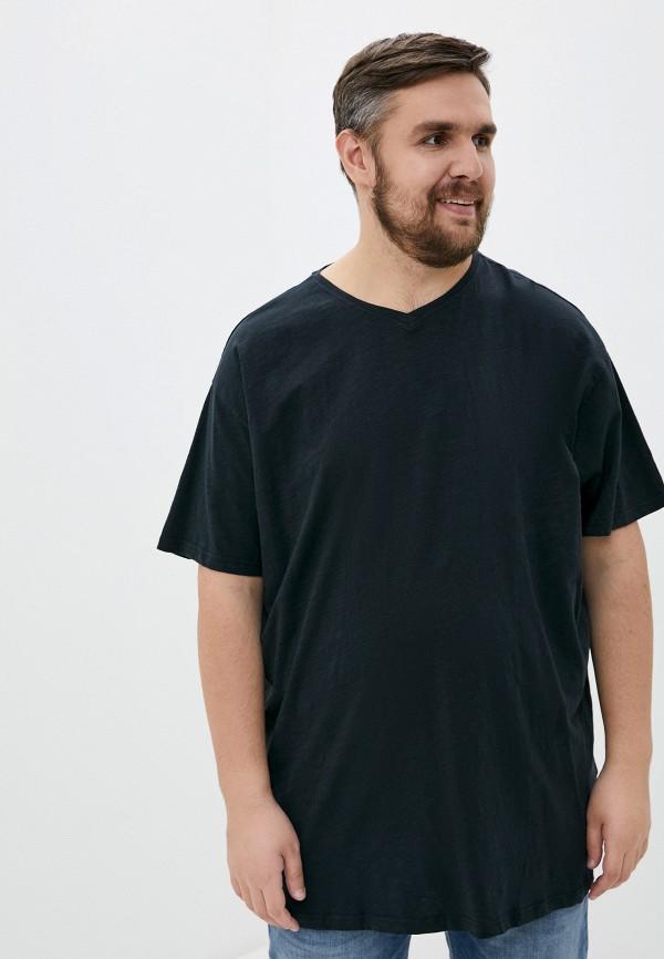 мужская футболка replika jeans, черная