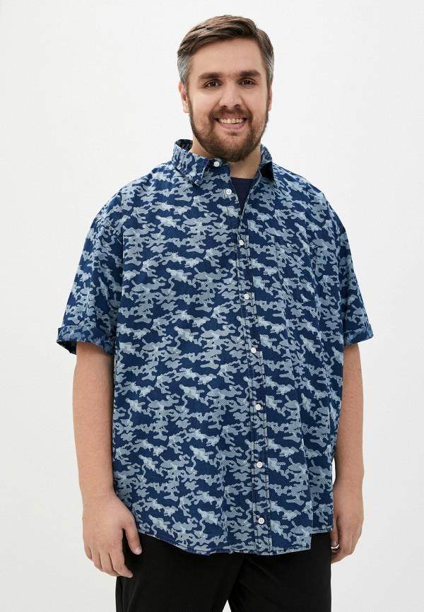 мужская рубашка replika jeans, синяя