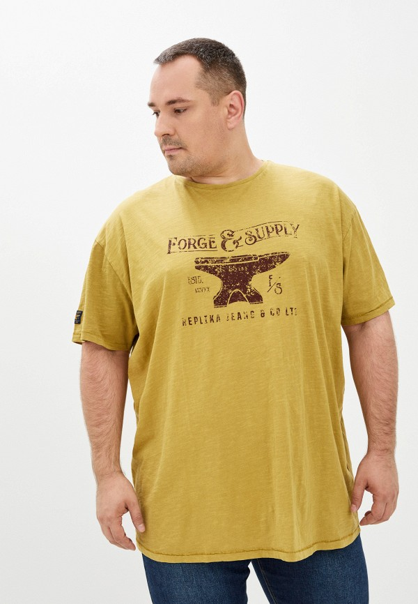 мужская футболка replika jeans, зеленая