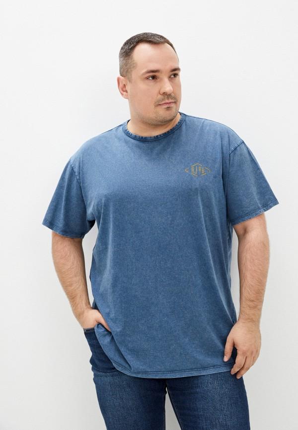 мужская футболка replika jeans, синяя
