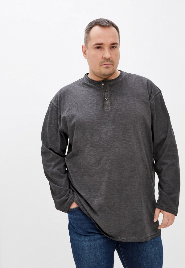 мужской лонгслив replika jeans, серый