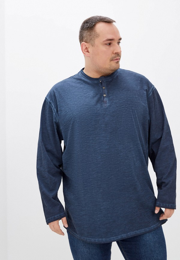 мужской лонгслив replika jeans, синий