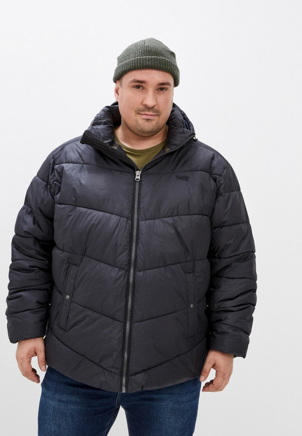 мужская куртка replika jeans, черная