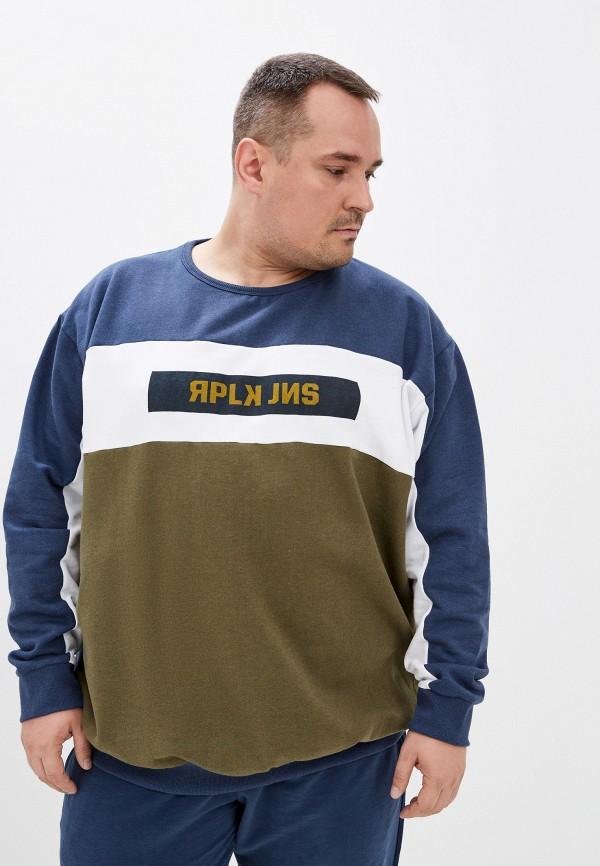 мужской свитшот replika jeans, синий