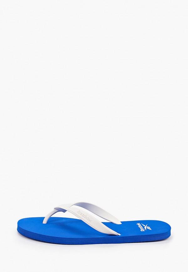 мужские сланцы reebok, синие