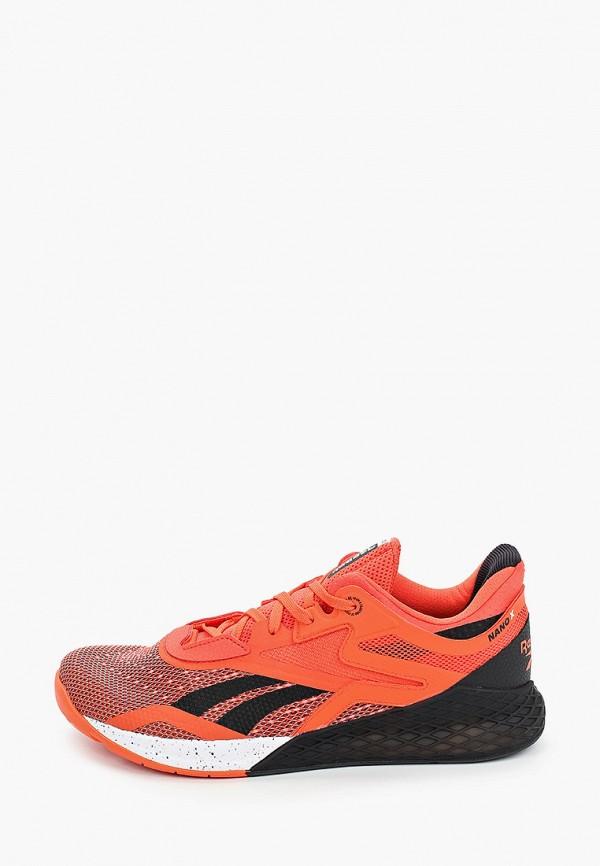 мужские кроссовки reebok, оранжевые